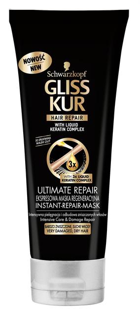 "Schwarzkopf Gliss Kur Ultimate Repair ekspresowa maseczka regeneracyjna  200ml"""
