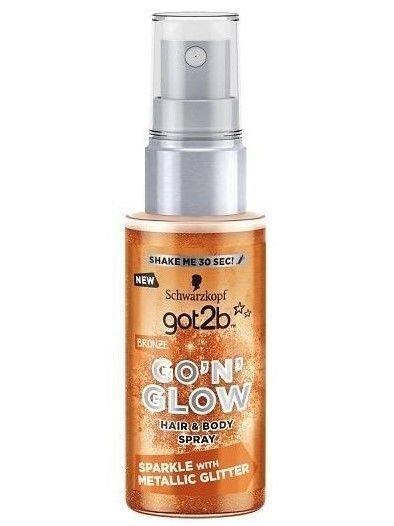 """Schwarzkopf Got 2b Go'N'Glow Spray rozświetlający do włosów i ciała Bronze 50ml"""""""