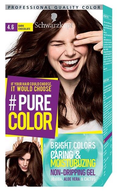 """Schwarzkopf Pure Color Farba do włosów w żelu nr 4.6 Dark Chocolate  1op."""""""