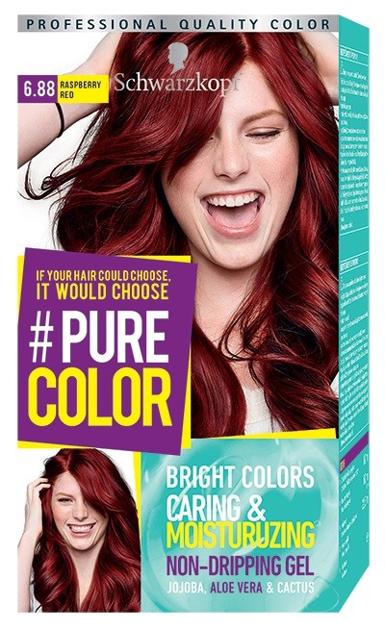 """Schwarzkopf Pure Color Farba do włosów w żelu nr 6.88 Raspberry Red  1op."""""""