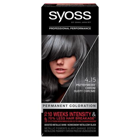 """Schwarzkopf  Syoss Farba do włosów Permanent Coloration nr 4_15 Przydymiony Chrom 1op."""""""