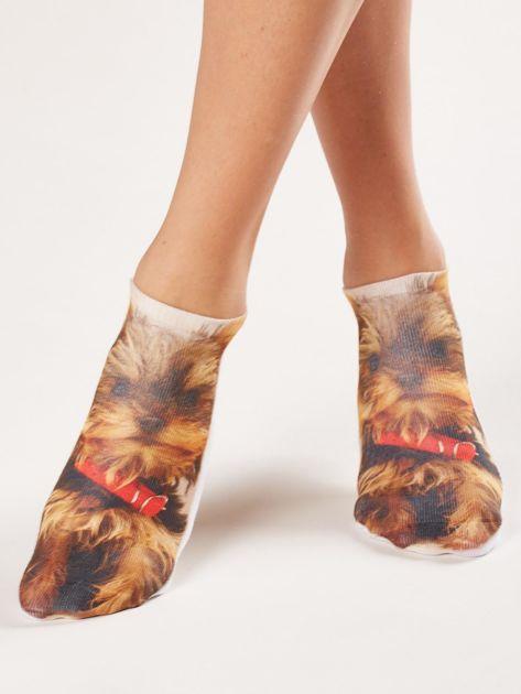 Skarpety stopki z nadrukiem psa