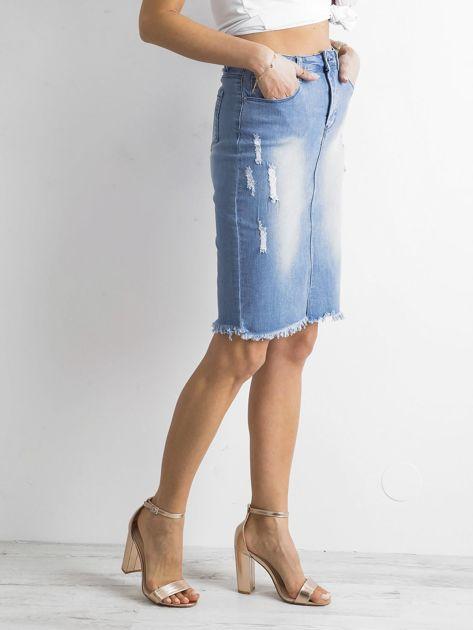 Spódnica jeansowa niebieska                              zdj.                              3