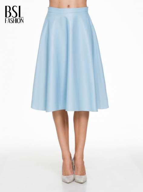 Spódnica midi szyta z półkola w kolorze baby blue