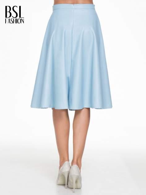 Spódnica midi szyta z półkola w kolorze baby blue                                  zdj.                                  4