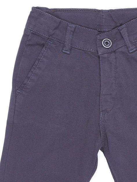 Spodnie chłopięce materiałowe ciemnoszare                              zdj.                              4