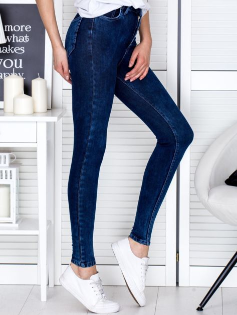Spodnie ciemnoniebieskie slim fit                              zdj.                              5