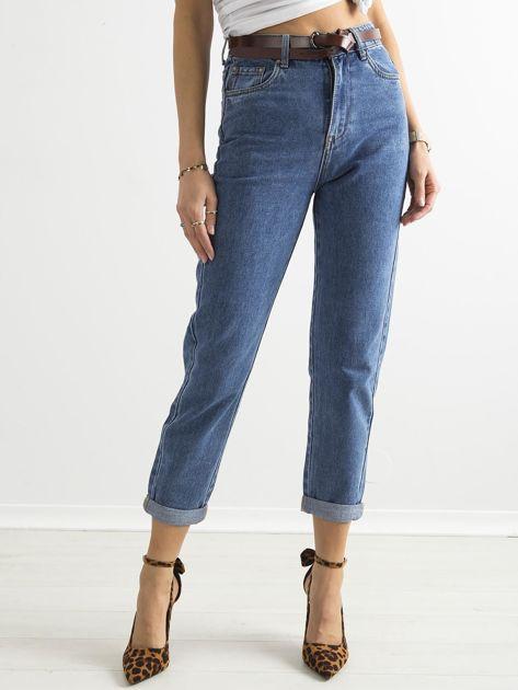 Spodnie damskie mom jeans niebieskie                               zdj.                              1