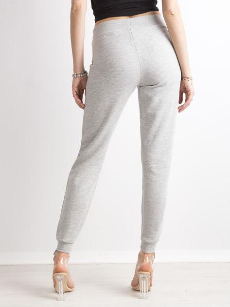 Spodnie dresowe z bawełny szare                              zdj.                              2