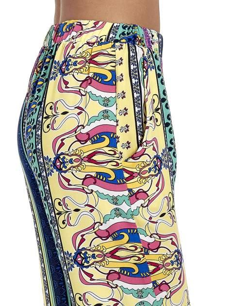 Spodnie dzwony we wzór roślinny                                  zdj.                                  6