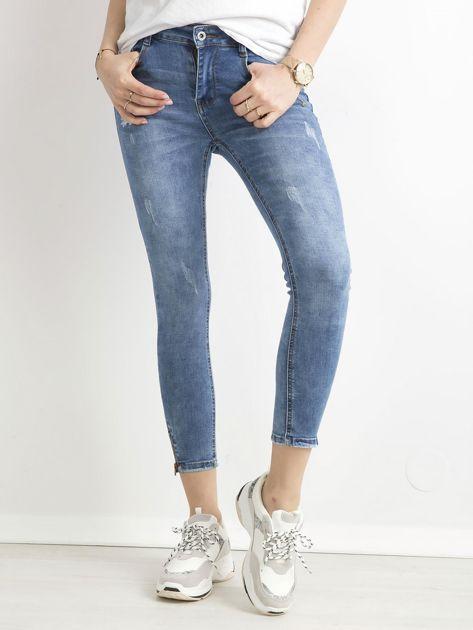 Spodnie jeansowe slim fit niebieskie                              zdj.                              1