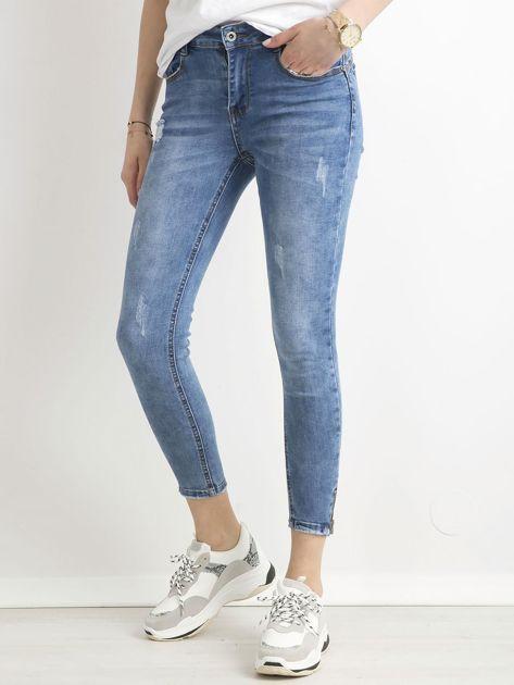 Spodnie jeansowe slim fit niebieskie                              zdj.                              5