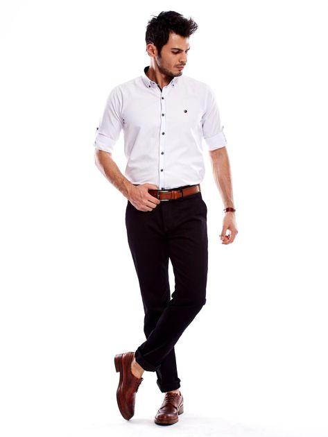 Spodnie męskie czarne o prostym kroju                                  zdj.                                  12