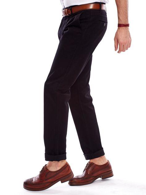 Spodnie męskie czarne o prostym kroju                                  zdj.                                  3