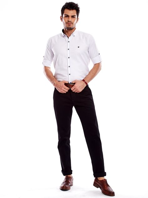 Spodnie męskie czarne o prostym kroju                                  zdj.                                  11