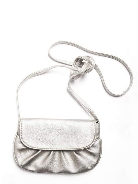 Srebrna mini torebka kopertówka z paskiem                                  zdj.                                  4