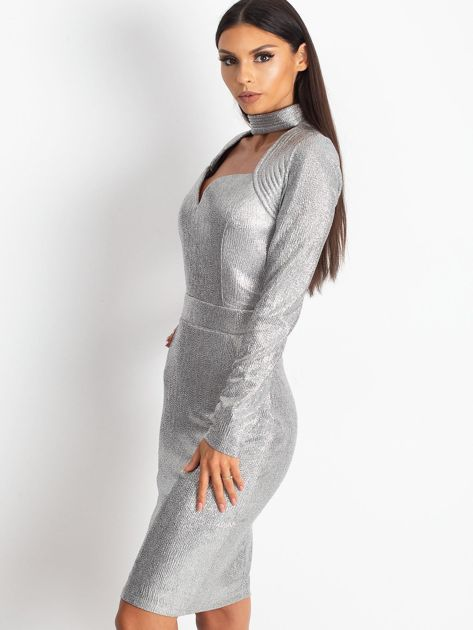 Srebrna sukienka Sparkle                              zdj.                              3