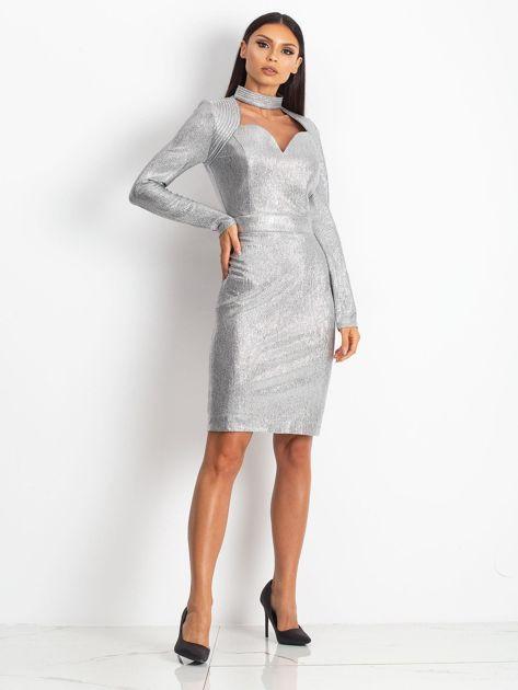 Srebrna sukienka Sparkle                              zdj.                              4