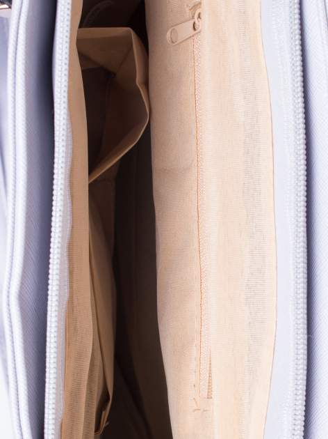 Srebrna torba shopper bag z odpinanym paskiem                                  zdj.                                  4