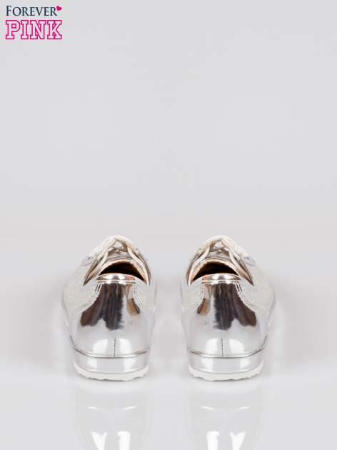 Srebrne adidasy damskie z efektem glitter                                  zdj.                                  3