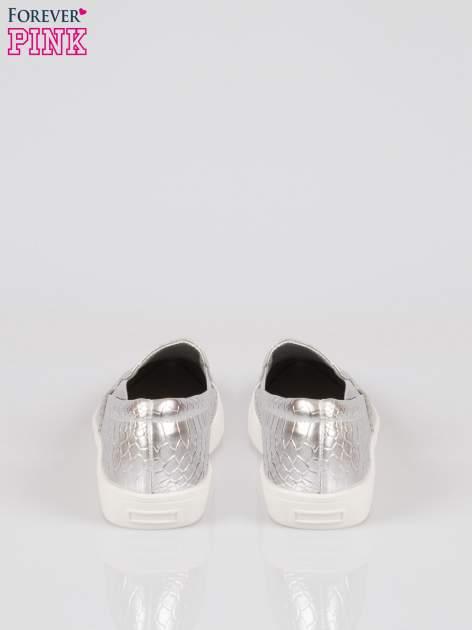 Srebrne wężowe buty slippers gold cap toe                                  zdj.                                  3
