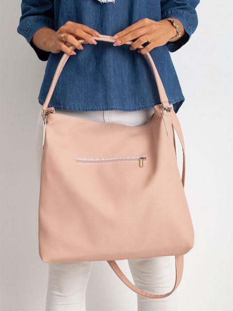 Srebrno-różowa torba z ekoskóry                              zdj.                              2