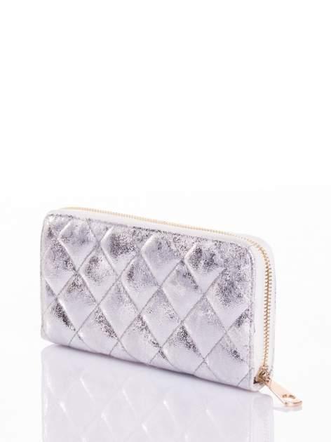 Srebrny pikowany portfel                                  zdj.                                  2