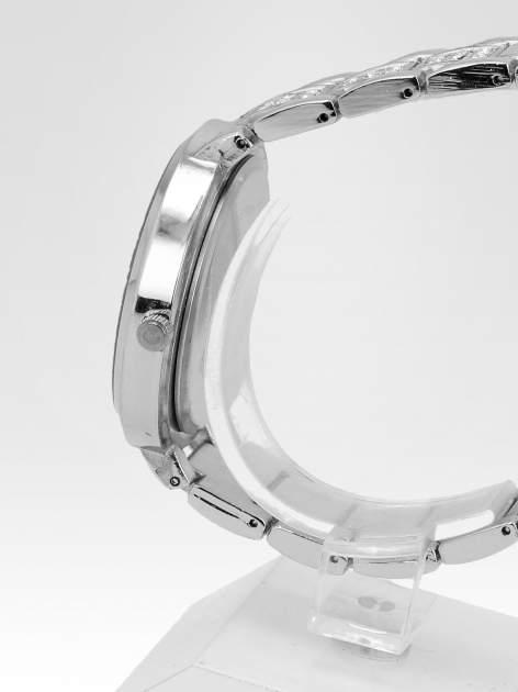 Srebrny zegarek damski na bransolecie ze srebrną cyrkoniową tarczą                                   zdj.                                  3