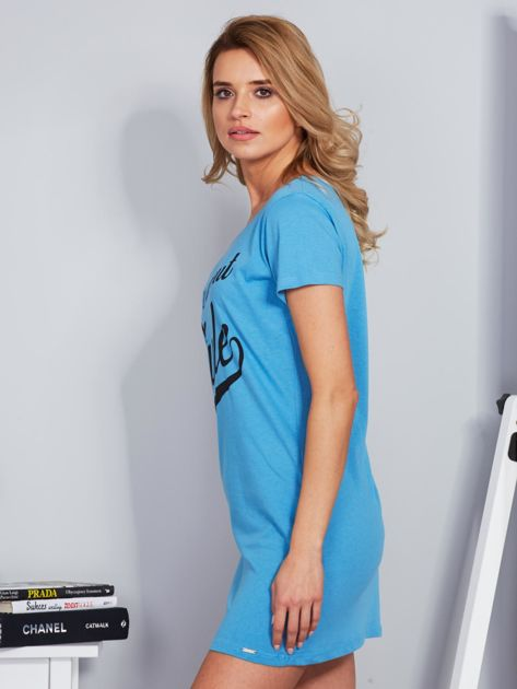 Sukienka bawełniana IT'S ABOUT STYLE niebieski                                  zdj.                                  5