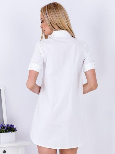 Sukienka biała z kołnierzykiem                              zdj.                              2