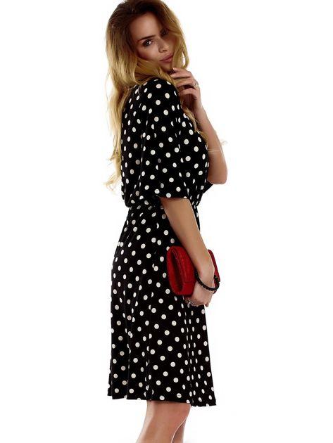Sukienka czarna w grochy                              zdj.                              3