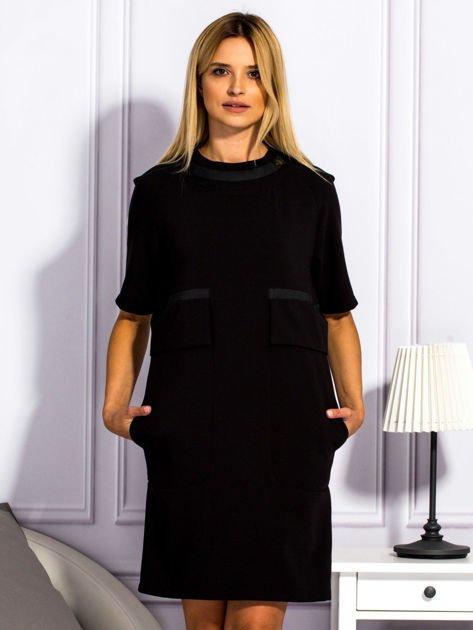Sukienka damska z kieszeniami czarna                                  zdj.                                  1