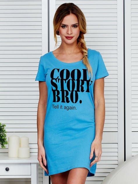 Sukienka niebieska bawełniana COOL STORY BRO                              zdj.                              1
