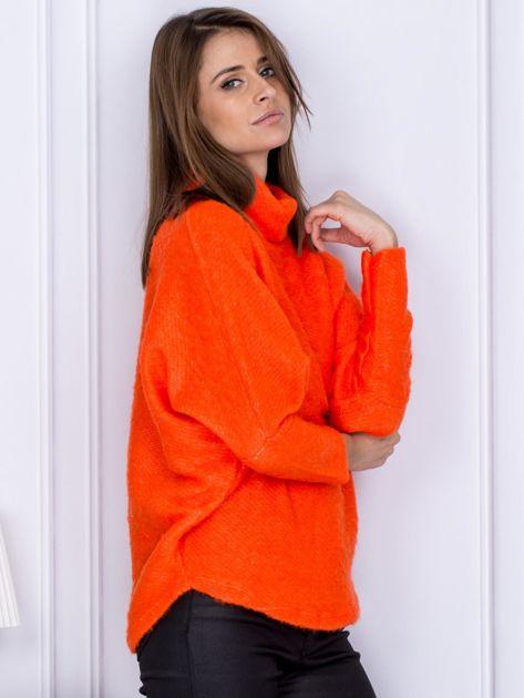 Sweter pomarańczowy z dłuższym włosem                                  zdj.                                  5