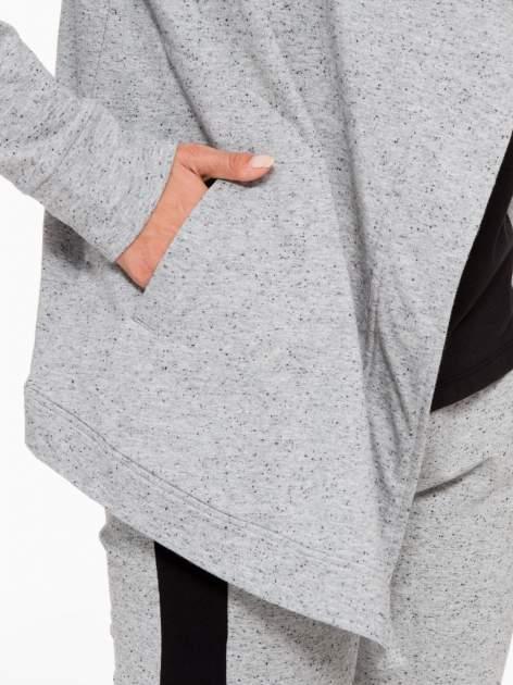 Szara bluza dresowa typu kardigan                                  zdj.                                  8