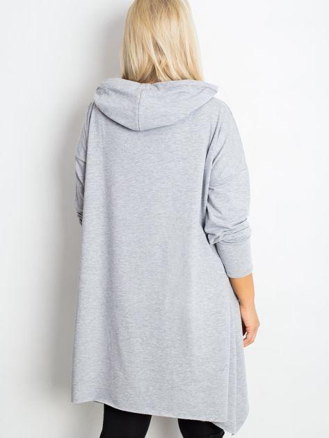 Szara bluza plus size Without                              zdj.                              2