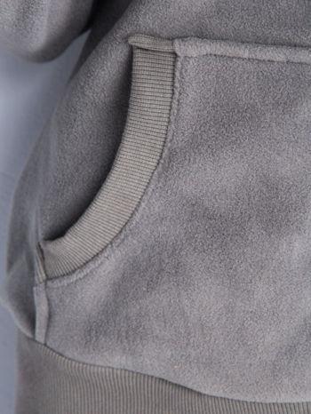 Szara bluza polarowa z kapturem z uszkami                                  zdj.                                  6