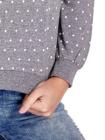 Szara bluza w kropki z napisem LONDON                                  zdj.                                  5