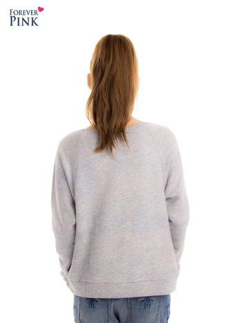 Szara bluza z floral printem i reglanowymi rękawami                                  zdj.                                  7