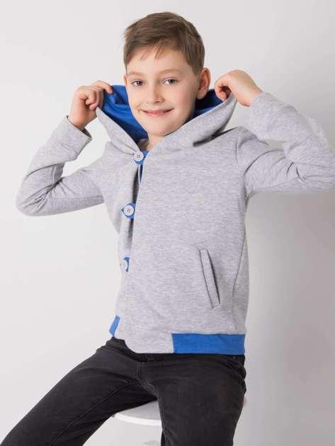 Szara bluza z kapturem dla chłopca DODO KIDS