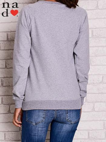 Szara bluza z kwiatowym nadrukiem                                  zdj.                                  4