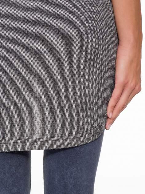 Szara bluza z numerkiem w stylu baseballowym                                  zdj.                                  10