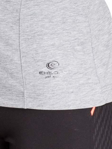 Szara bluzka sportowa basic PLUS SIZE                                  zdj.                                  5