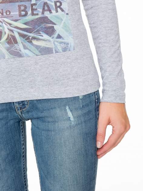 Szara bluzka z nadrukiem pandy                                  zdj.                                  7