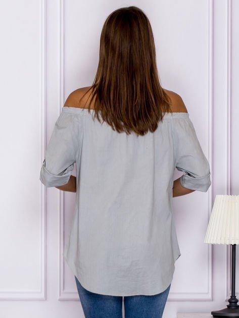Szara bluzka z ozdobnymi guzikami                              zdj.                              2