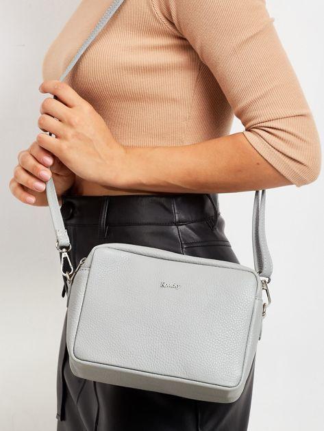 Szara damska torba ze skóry