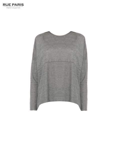 Szara dresowa bluza oversize z kieszeniami                                  zdj.                                  5