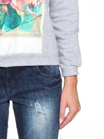 Szara dresowa bluza z nadrukiem CALIFORNIA LA                                  zdj.                                  8
