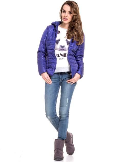 Szara dresowa bluza z nadrukiem pandy                                  zdj.                                  9