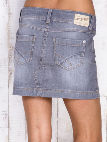Szara jeansowa spódnica mini                                  zdj.                                  5